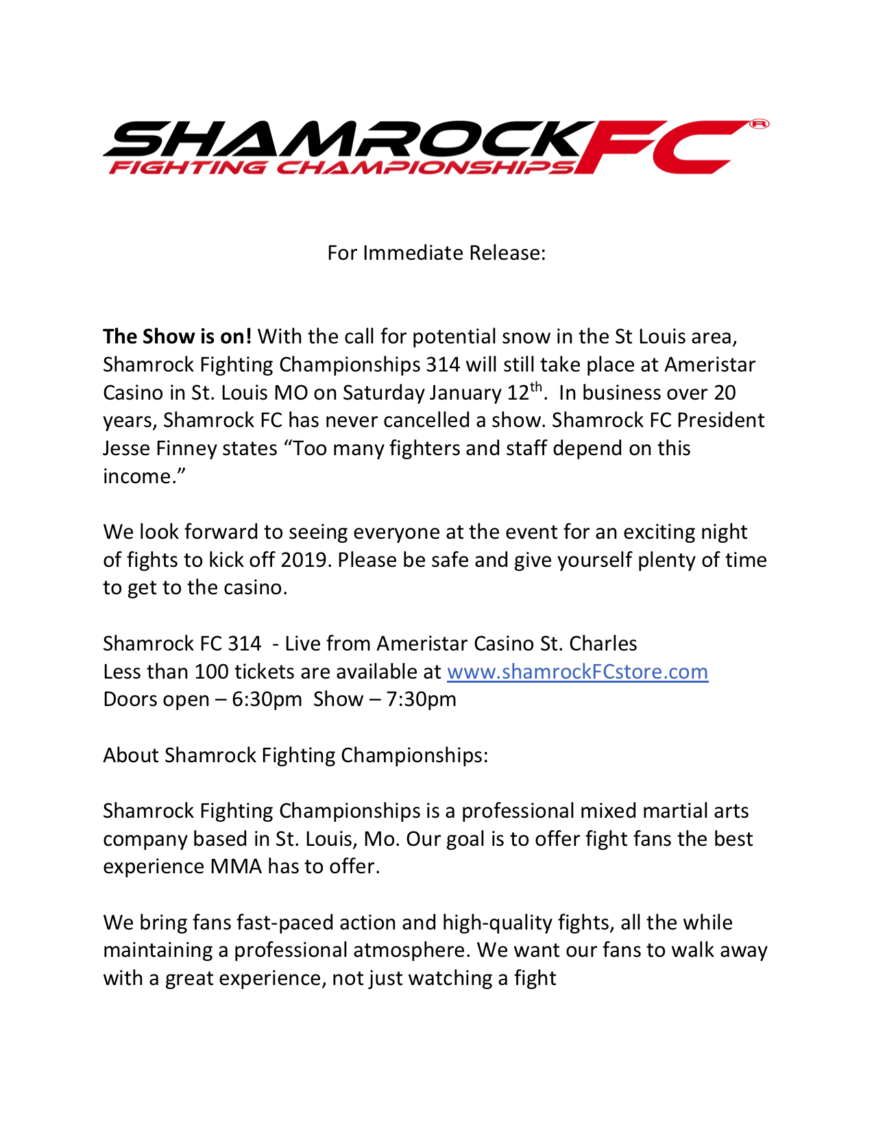 shamrock314announcement